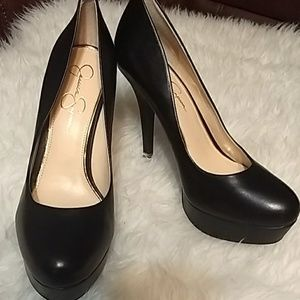 Jessica Simpson, black 5inch heels Sz 11